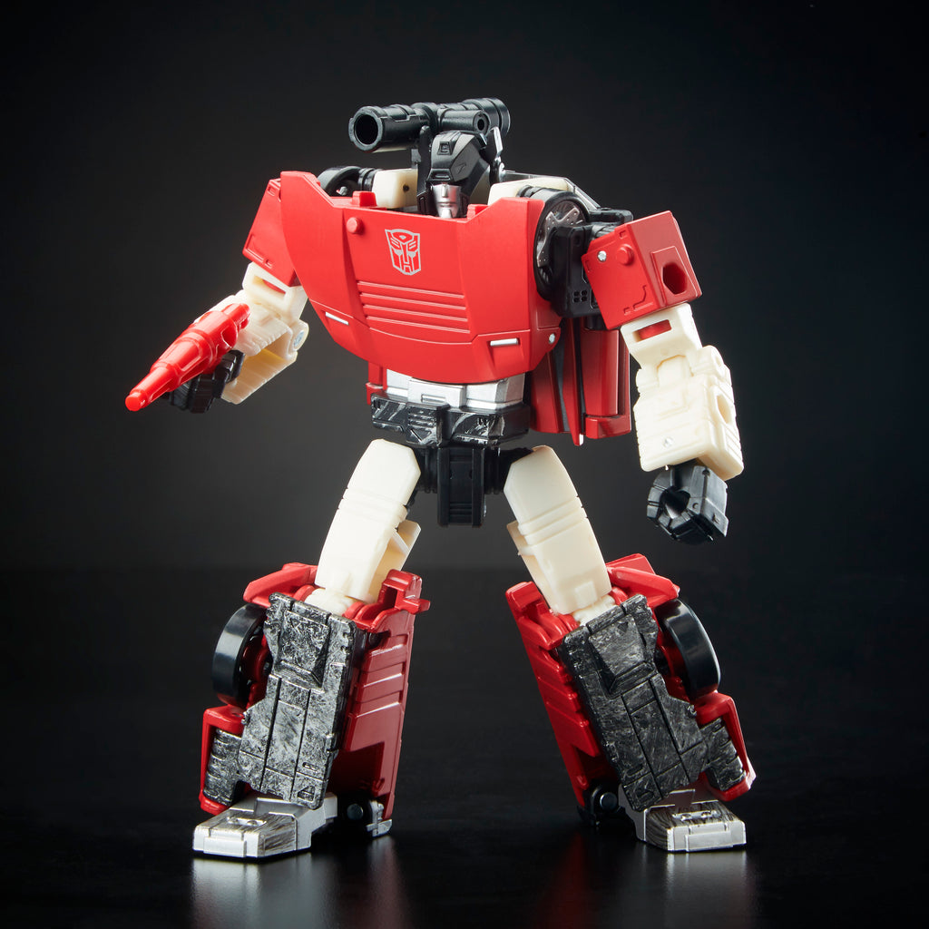 Transformers Generations War for Cybertron: Siege Deluxe Class WFC-S10 Sideswipe Figure Bot Mode
