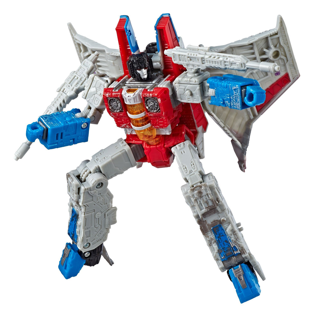 Transformers Generations War for Cybertron Voyager WFC-S24 Starscream Figure Bot Mode