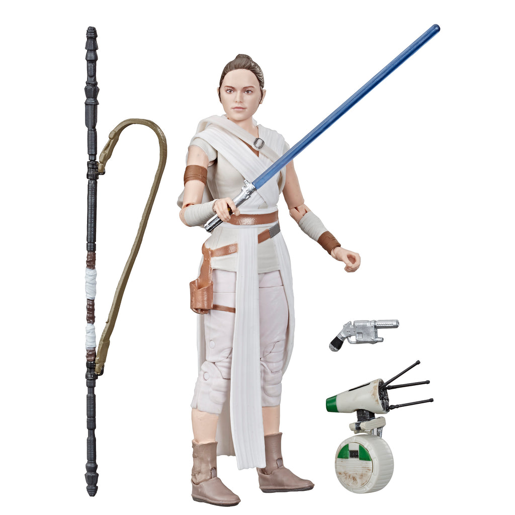 Star Wars The Black Series Rey and D-O Figures and Accessories