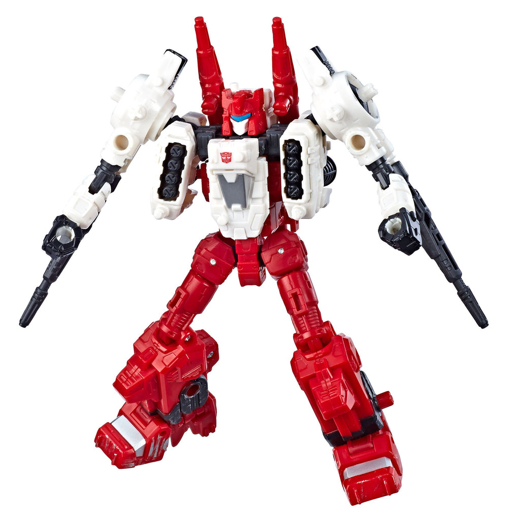 Transformers Generations War for Cybertron Deluxe WFC-S22 Autobot Six-Gun Weaponizer Figure Robot Mode