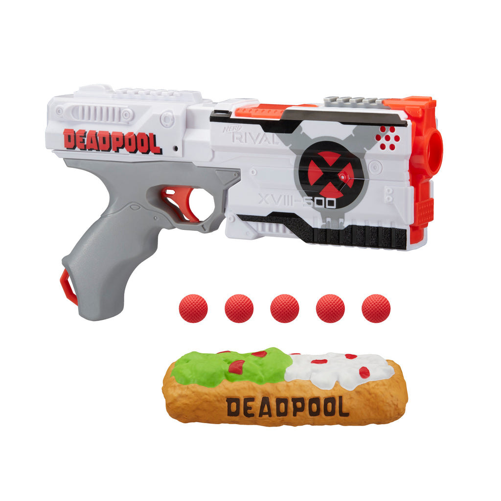Nerf Rival Deadpool Kronos XVIII-500 Blaster and Rounds