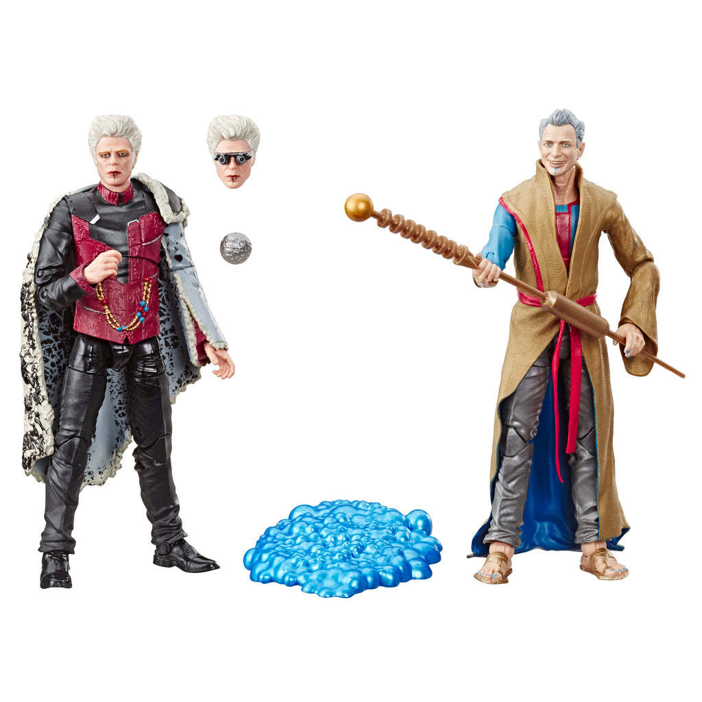 Hasbro Marvel Legends Series the Collector and the Grandmaster Action Figures With Accessories