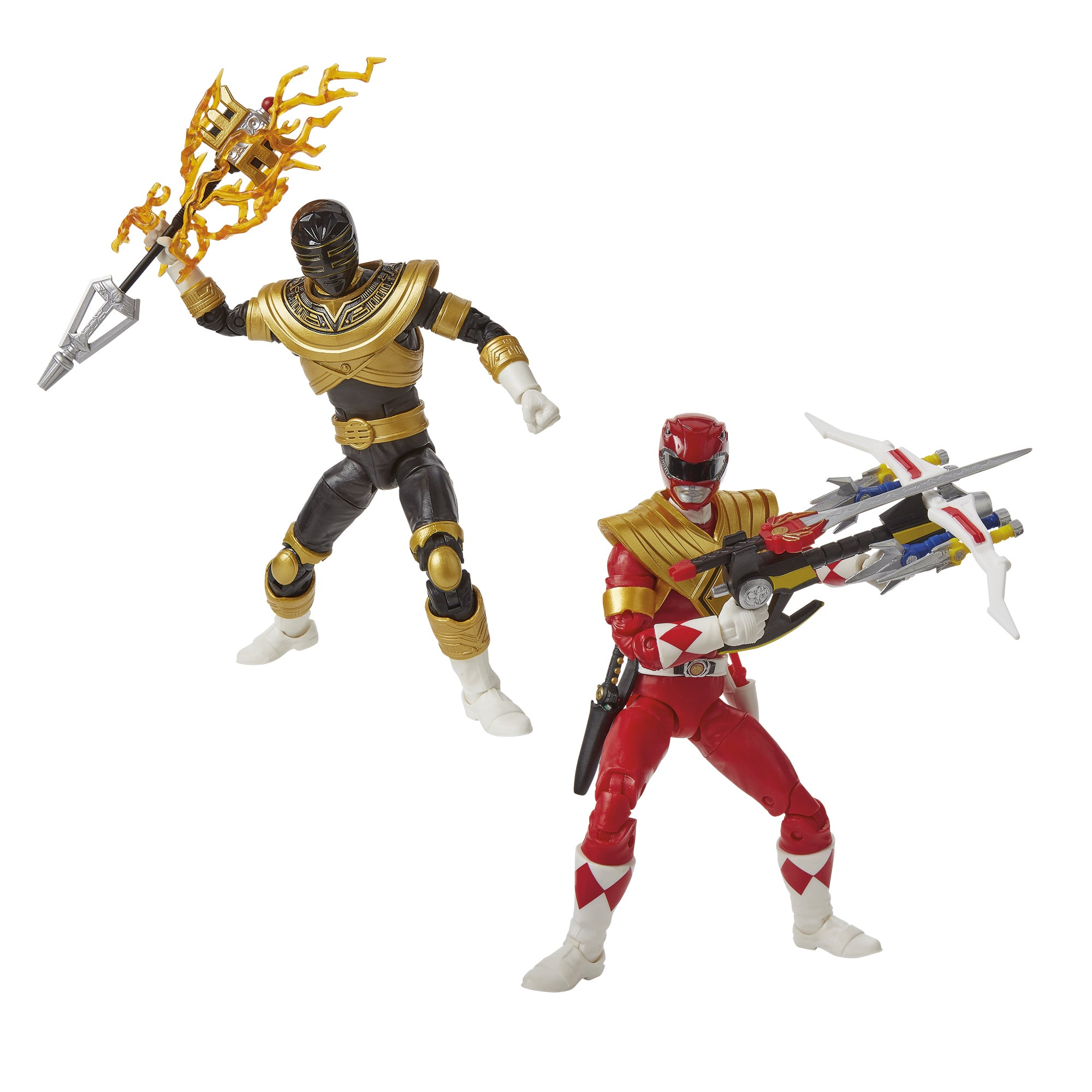 Power Rangers Lightning Collection Mighty Morphin Red and Zeo Gold Ranger