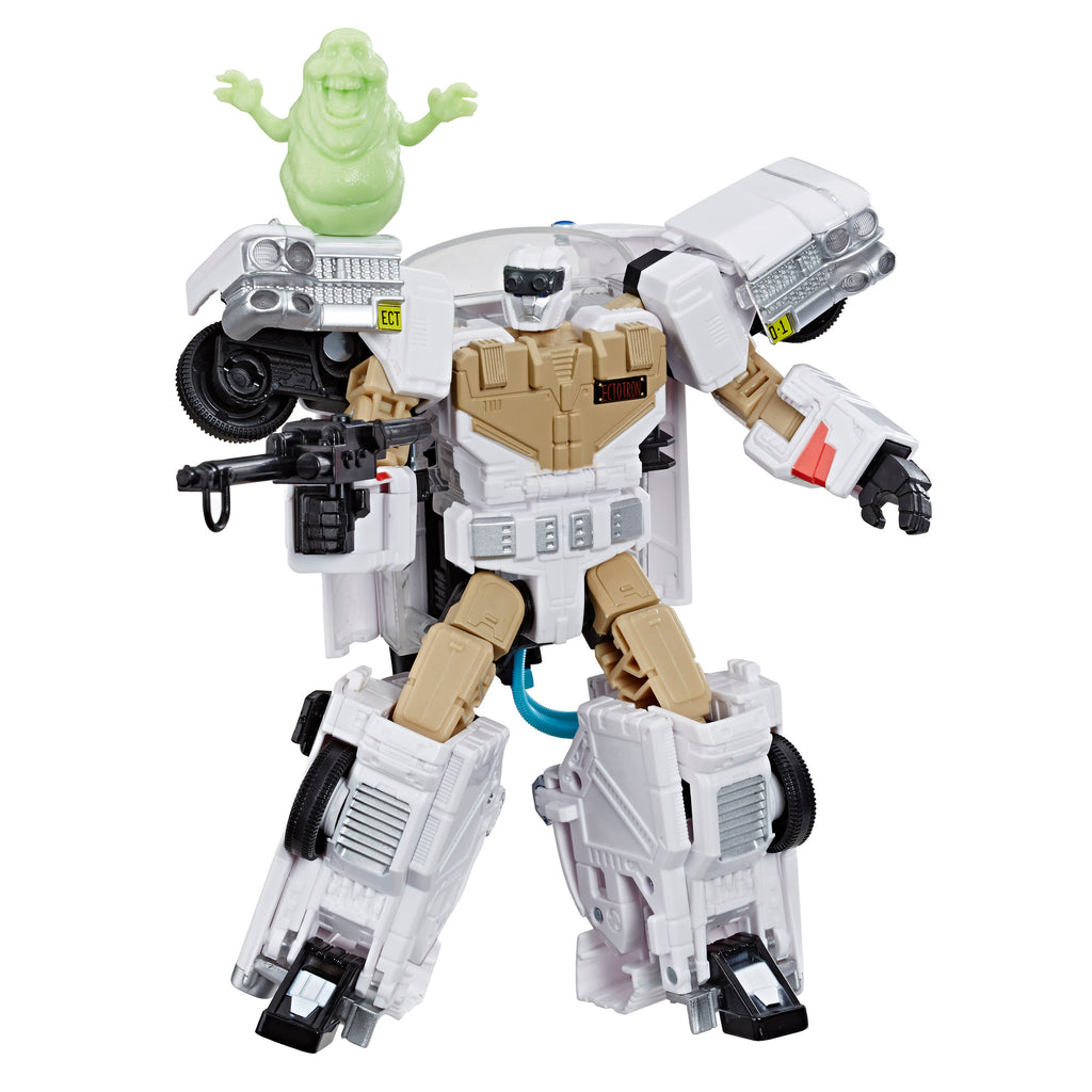 Transformers Generations Collaborative: Ghostbusters Mash-Up Ecto-1 Ectotron Robot Mode and Slimer Figure