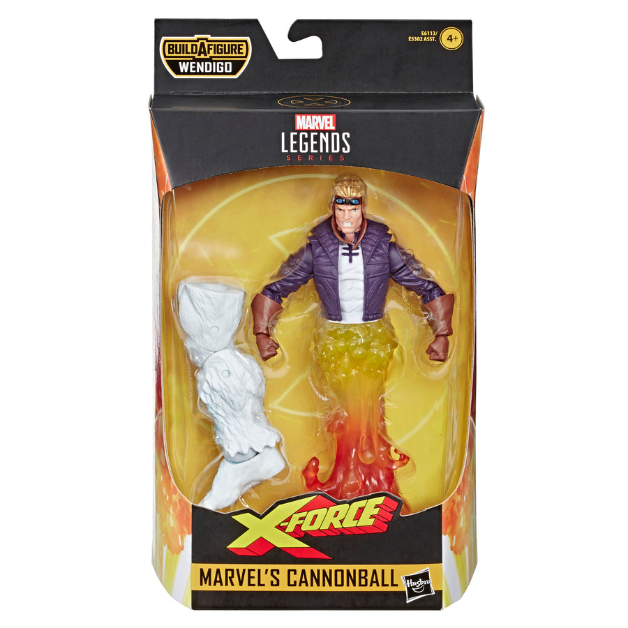 Marvel Legends Series Cannonball Figure Packaging