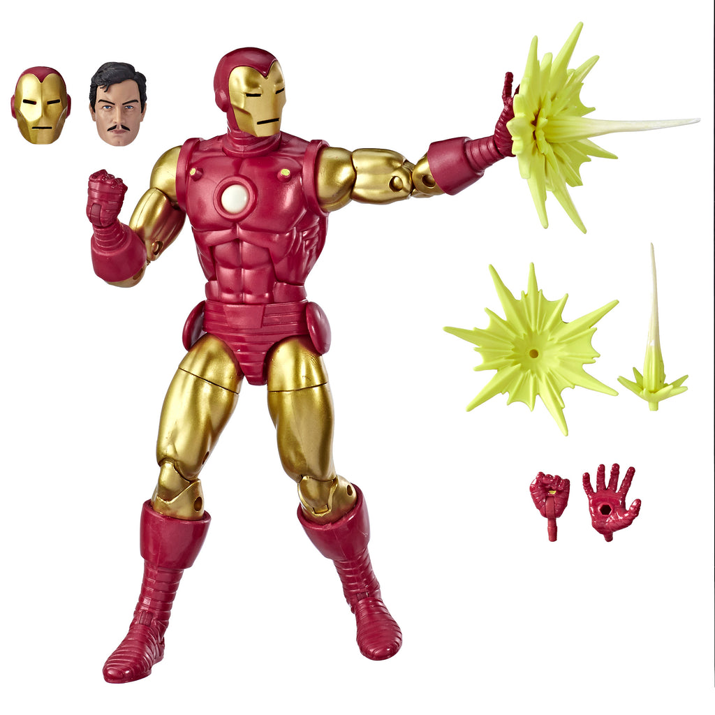 Marvel Legends Series 80th Anniversary Iron Man Figure and Accessories