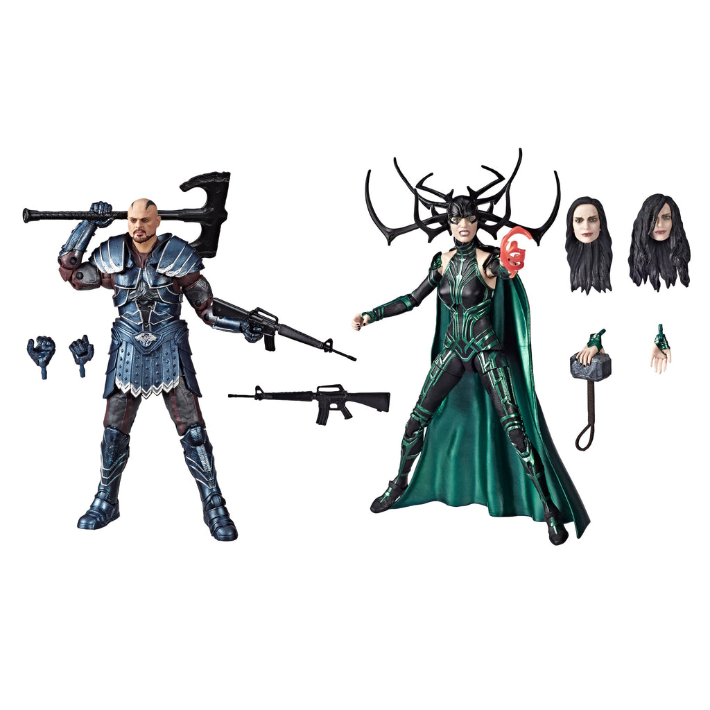Marvel Legends Series Skurge and Hela Figures