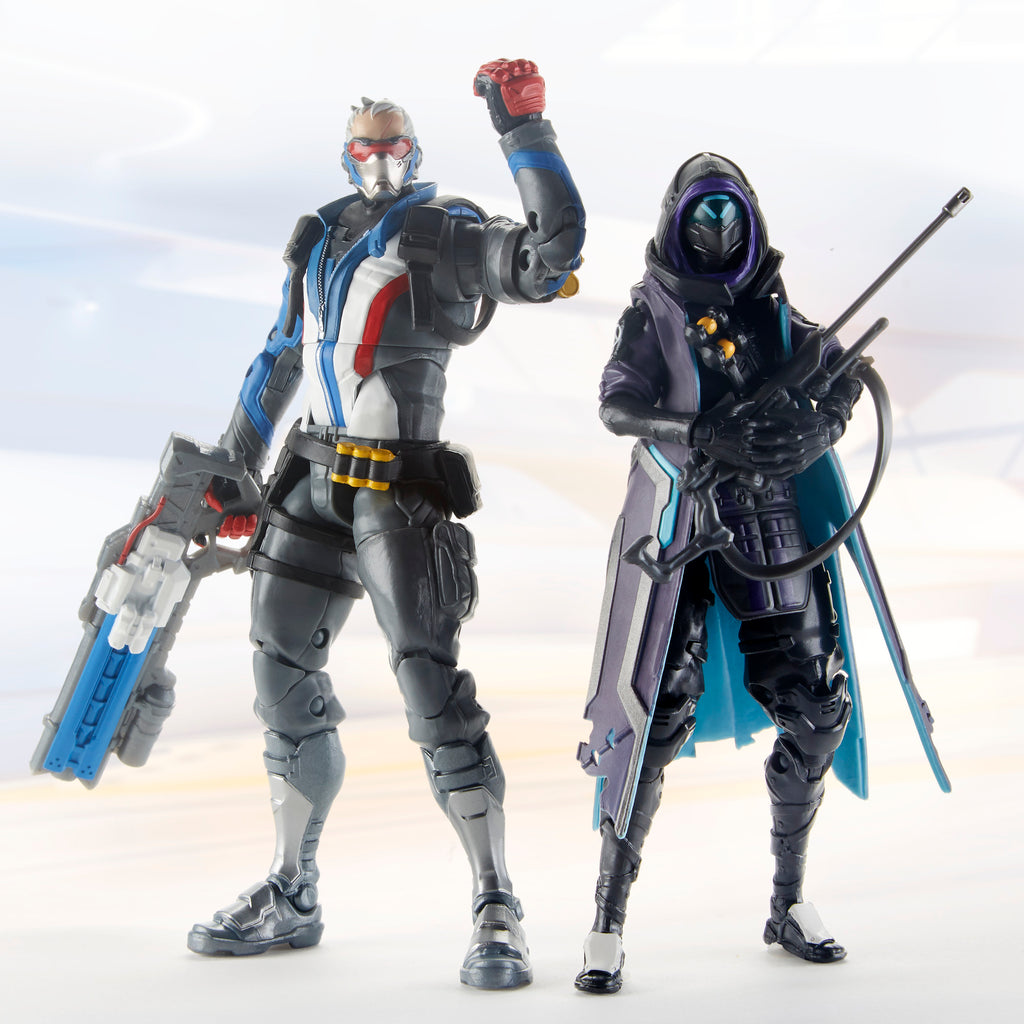 Overwatch Ultimates Series Soldier: 76 and Shrike Ana Skin Dual Pack Figures Blizzard Video Game Characters