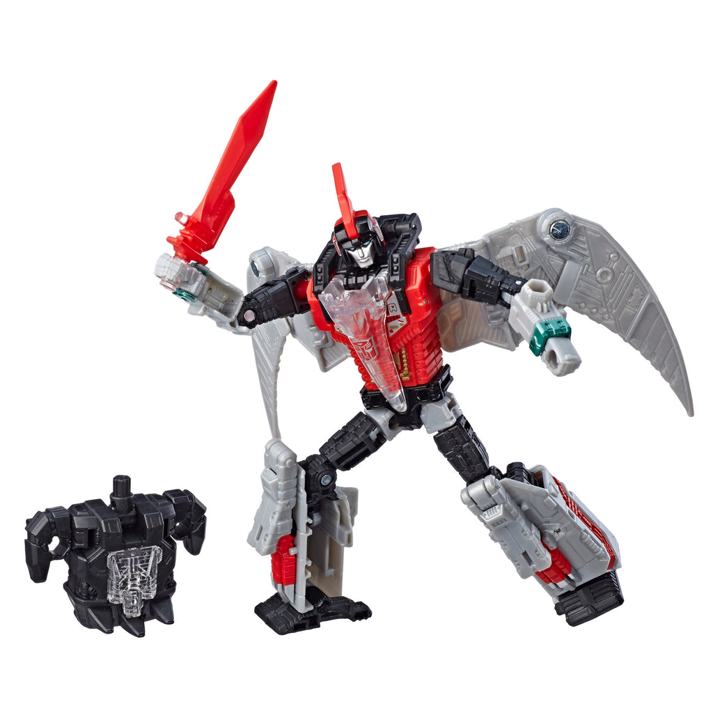 Transformers Generations Selects Dinobot Red Swoop, Power of the Primes Deluxe Class Figure Robot Mode