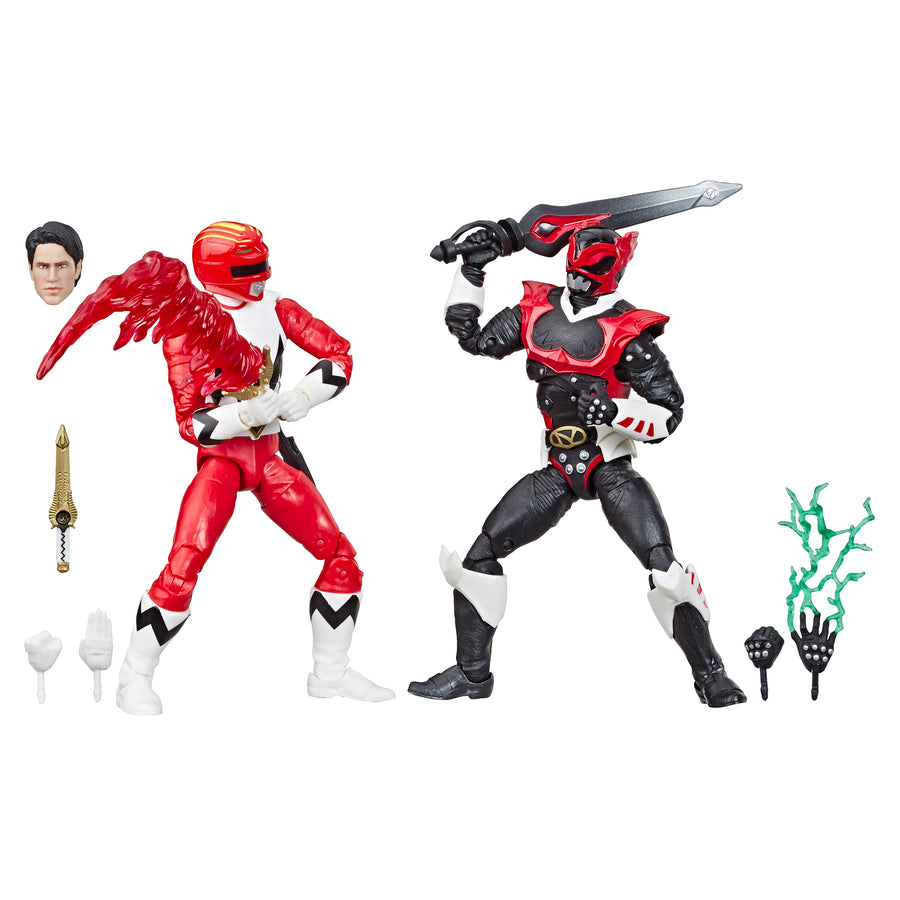 Power Rangers Lightning Collection In Space Psycho Red Ranger and Lost Galaxy Red Ranger With Accessories