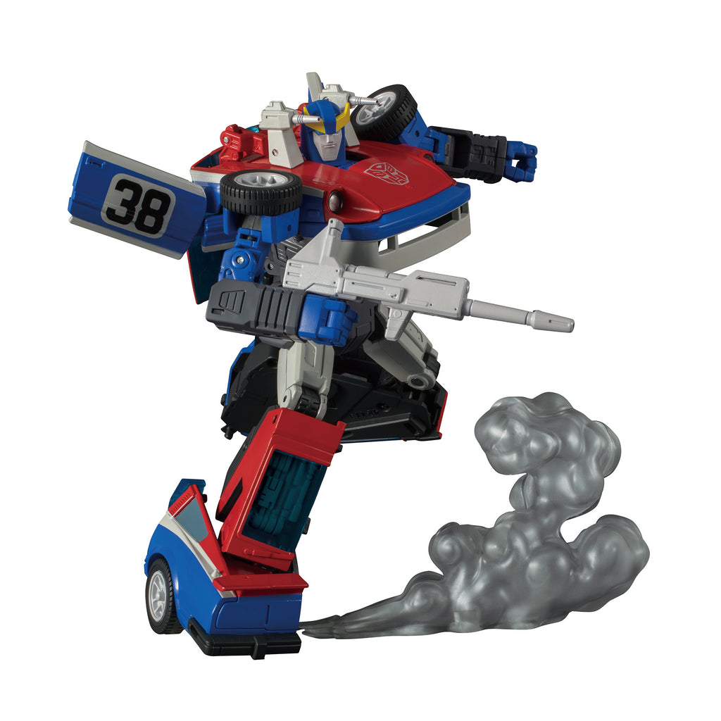 Takara Tomy Transformers Masterpiece MP-19+ Smokescreen Robot Mode and Accessory
