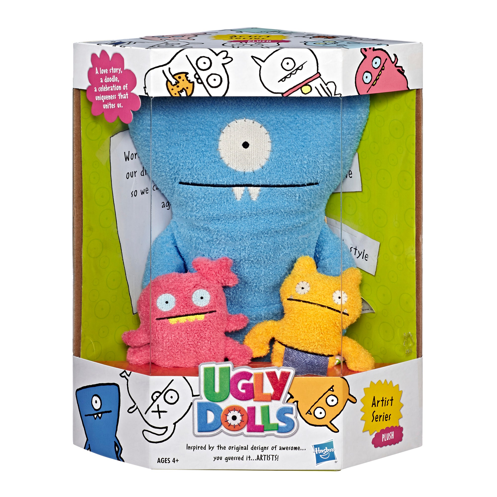 UglyDolls Artist Series Mini Moxy and Wage Large Wedgehead