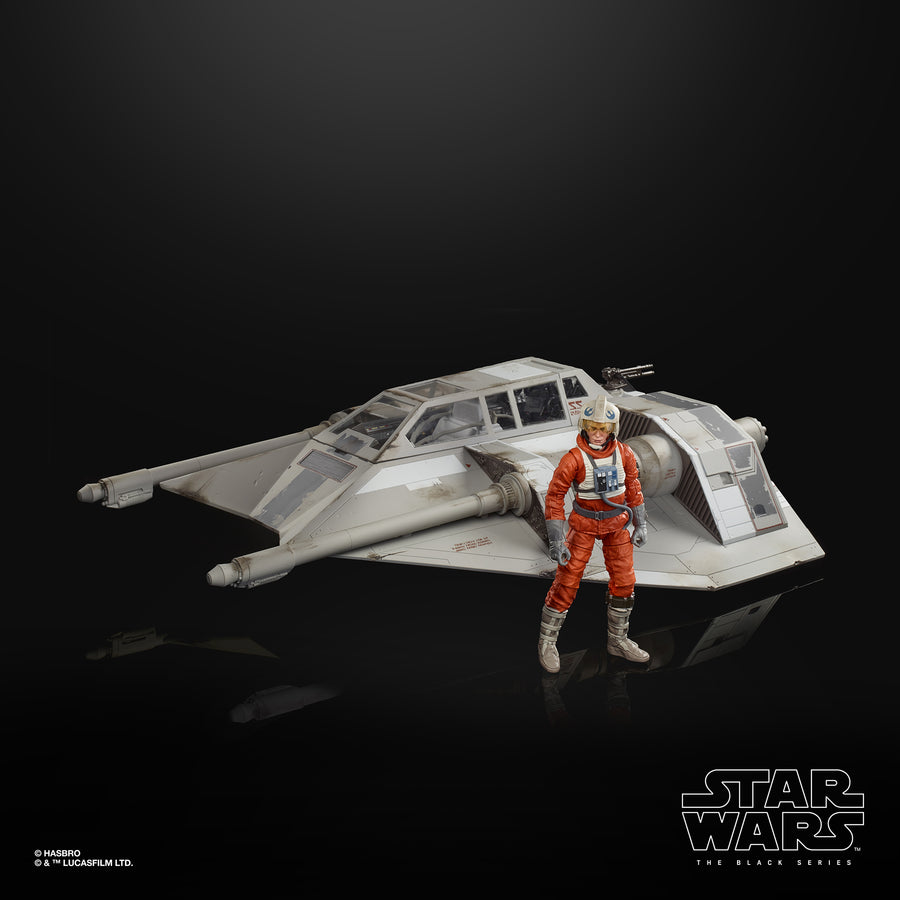 Star Wars The Black Series Snowspeeder Vehicle and Dak Ralter Figure