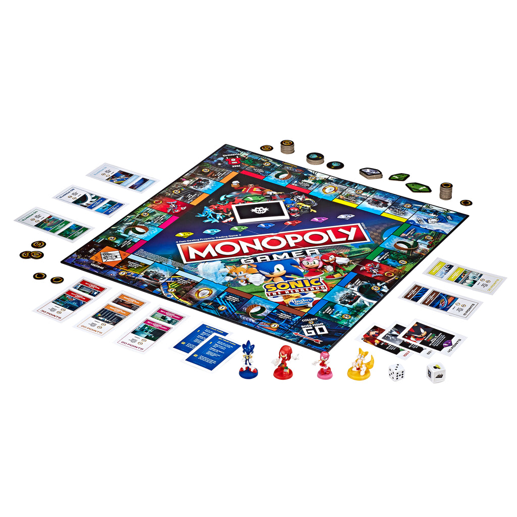 Monopoly Gamer Sonic the Hedgehog Game Out of Pack
