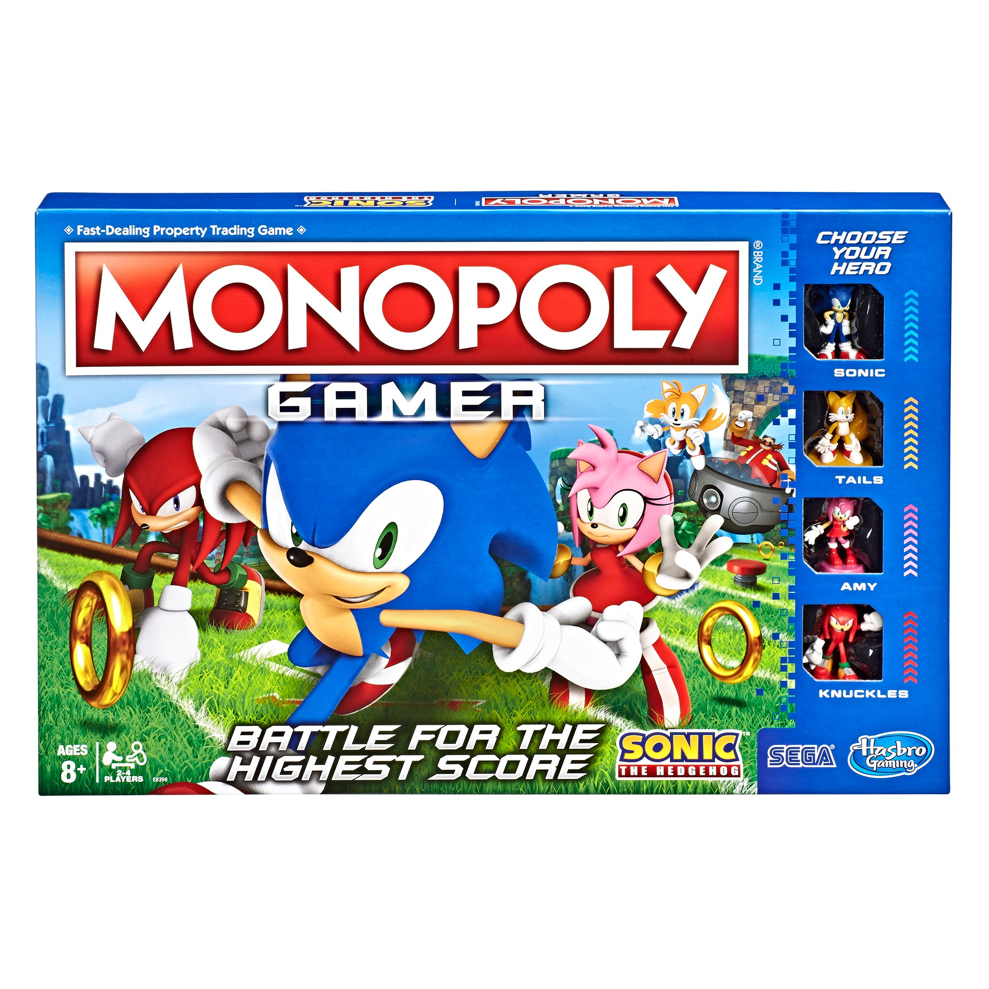 Monopoly Gamer Sonic the Hedgehog Game Packaging