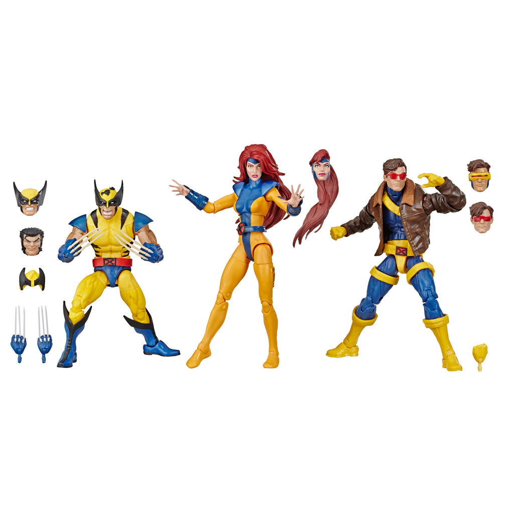 Marvel Legends Series X-Men 3-Pack Figures and Accessories