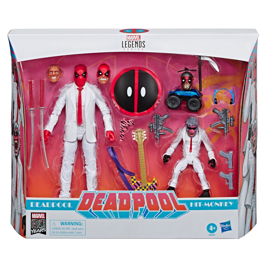 Marvel Legends Series 80th Anniversary Deadpool and Hit-Monkey Packaging