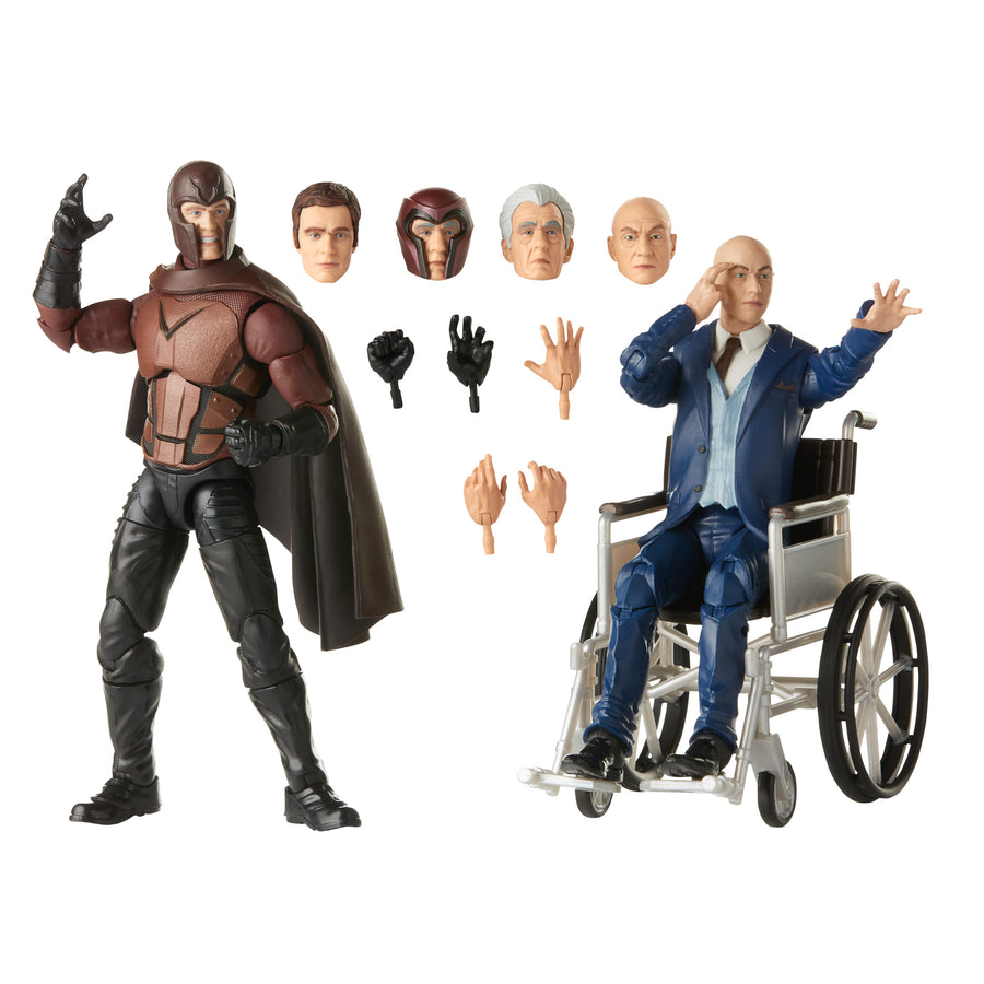 Marvel Legends Series Magneto and Professor X Action Figures