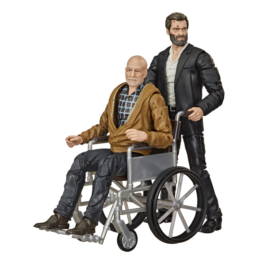 Marvel Legends Series X-Men Marvel's Logan and Charles Xavier Action Figures