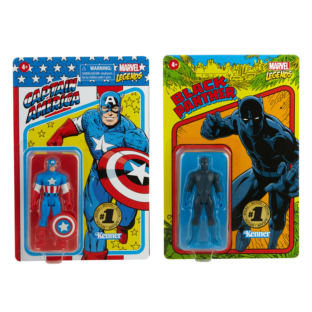 Marvel Legends RETRO 3.75 Captain America & Black Panther (Hasbro Pulse Exclusive)