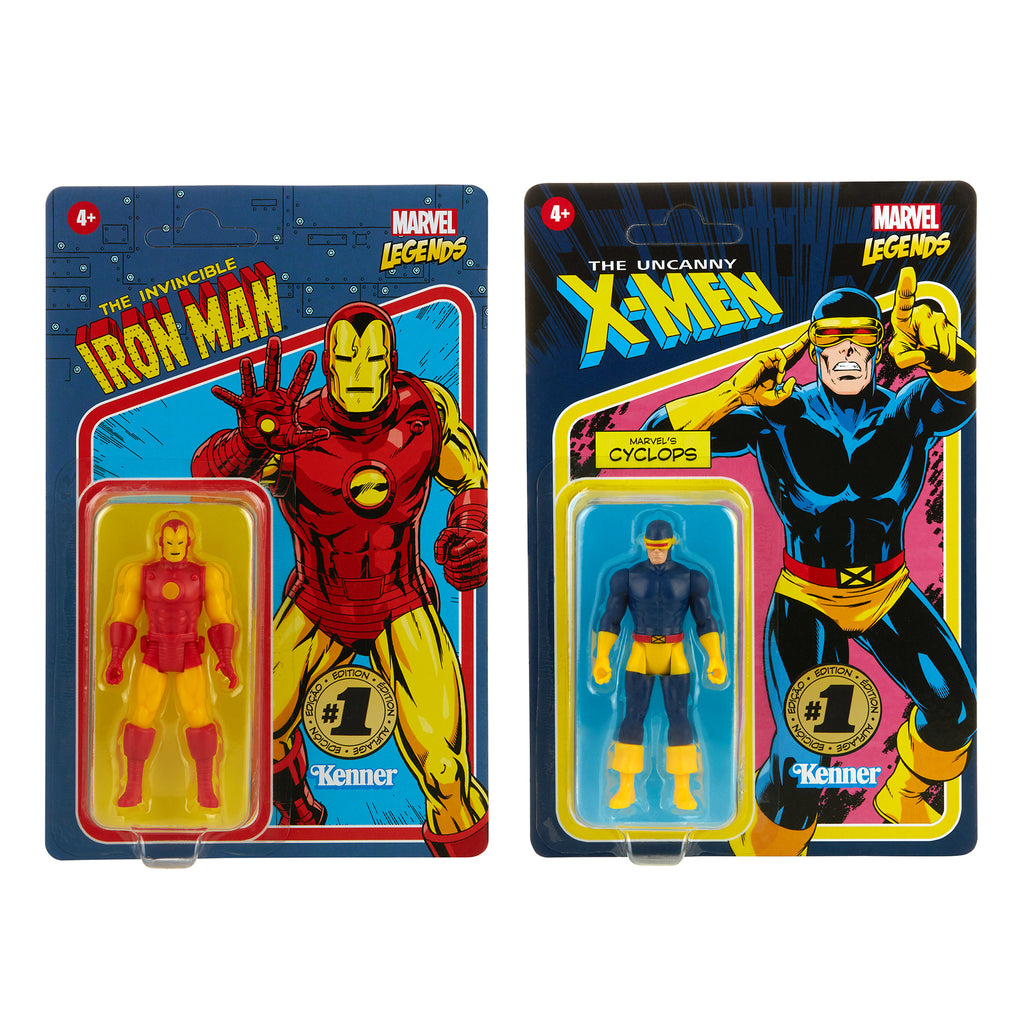 Marvel Legends RETRO 3.75 Iron Man & Marvel's Cyclops (Hasbro Pulse Exclusive)