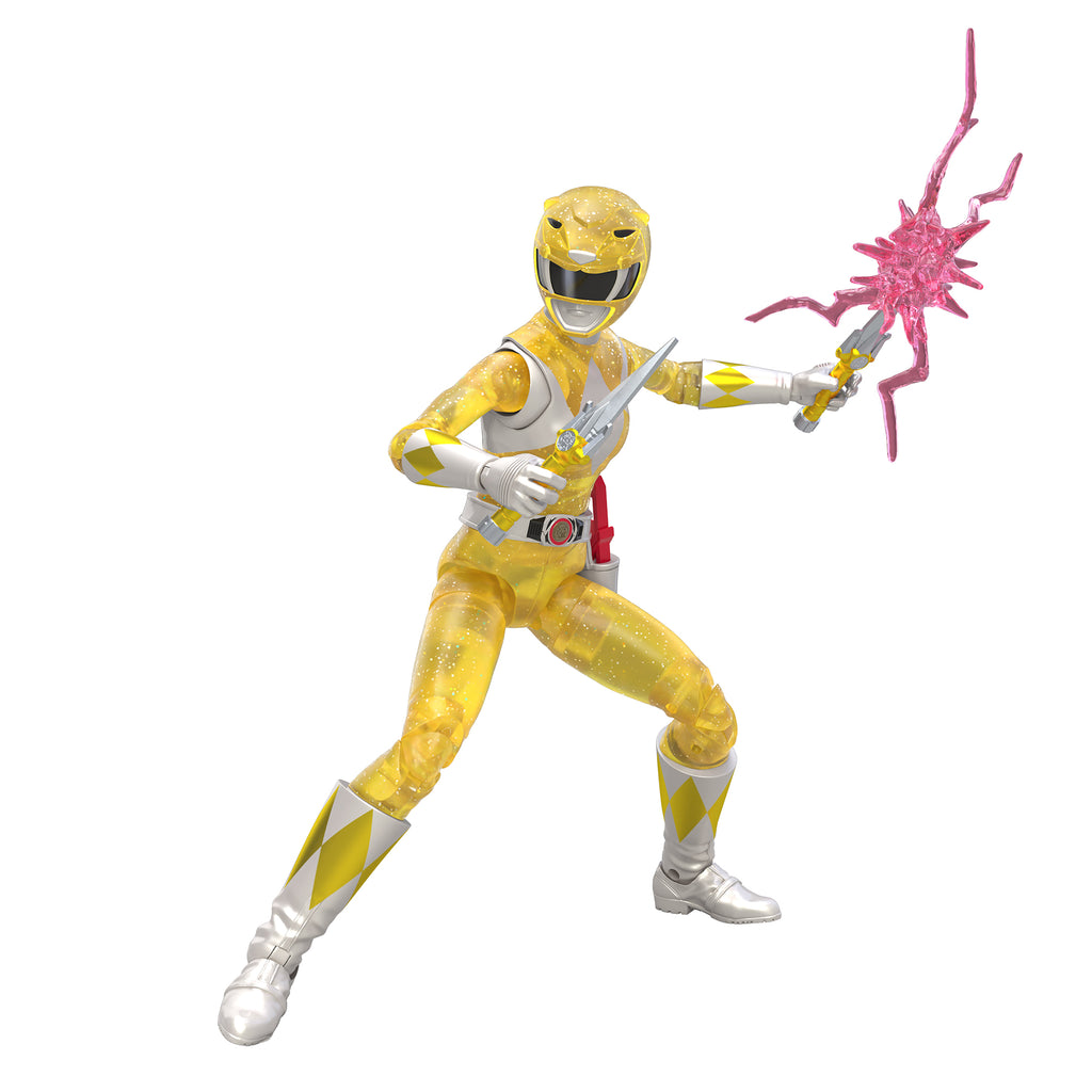 Power Rangers Lightning Collection Mighty Morphin Metallic Yellow Ranger (Hasbro Pulse Exclusive)