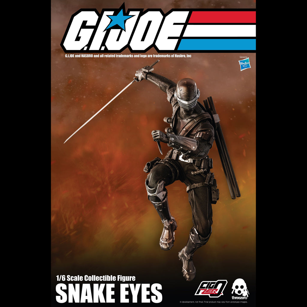 G.I. Joe Snake Eyes Collectible Figure 1/6 Scale By Threezero