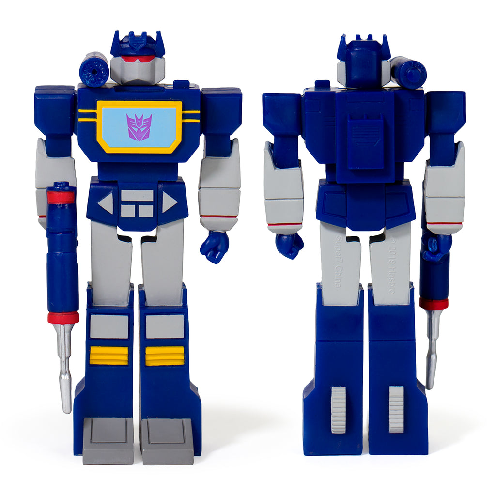 Transformers ReAction Soundwave Front and Back of Figure