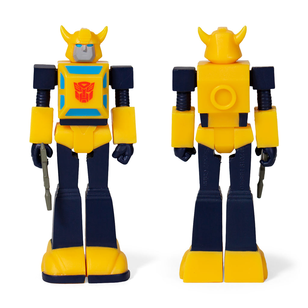 Transformers ReAction Bumblebee Front and Back of Figure