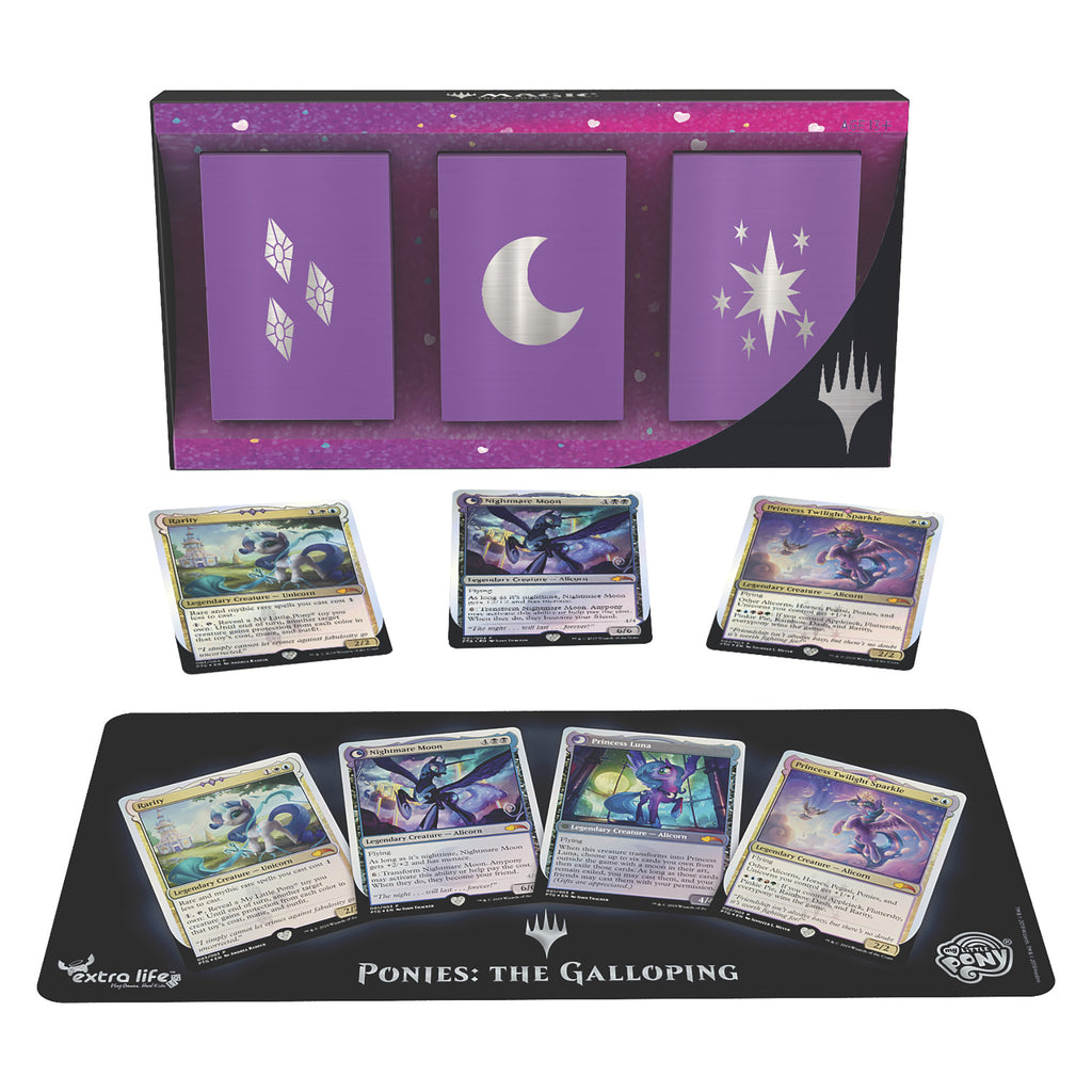 Ponies: The Galloping Packaging and Cards Display With Mat