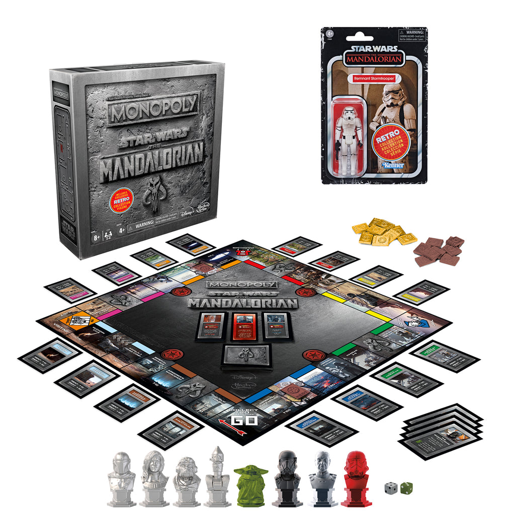 Monopoly: Star Wars The Mandalorian Edition Game With Figure