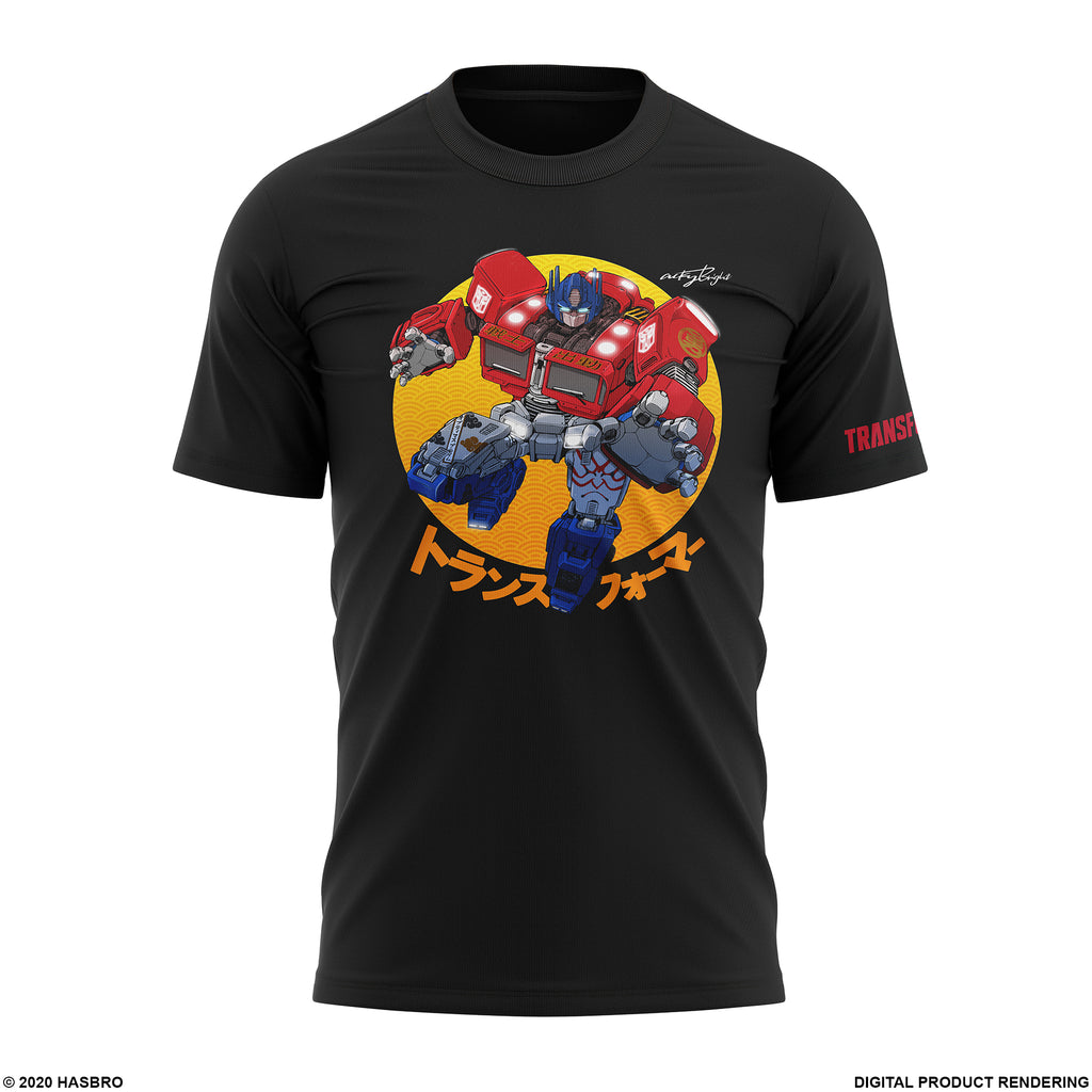 Optimus Prime T-shirt by Artist Acky Bright