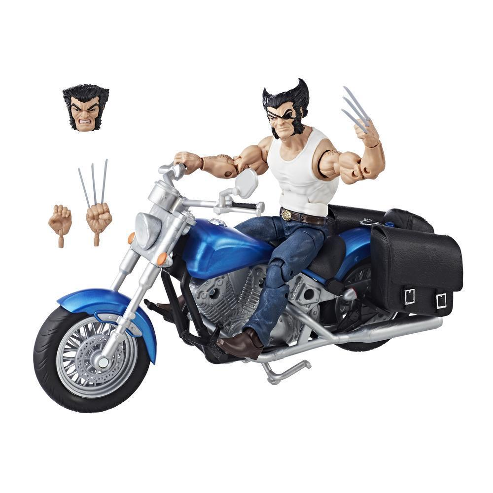 Marvel Legends Series Wolverine and Motorcycle and Accessories