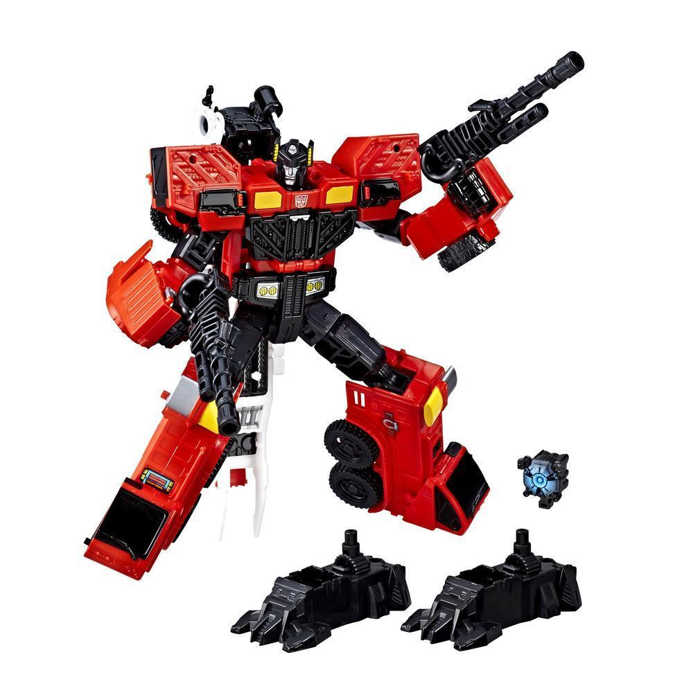 Transformers: Generations Power of the Primes Voyager Class Inferno Figure Robot Mode and Accessories