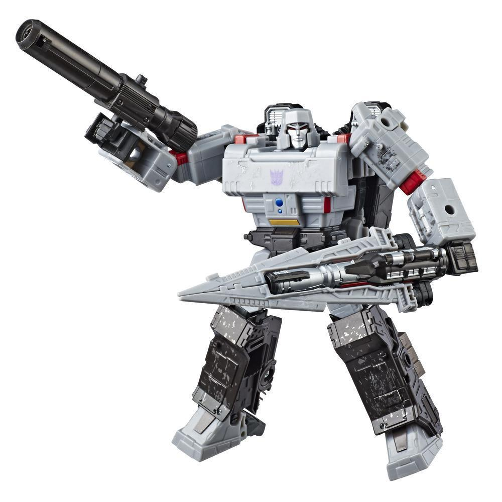 Transformers Generations War for Cybertron: Siege Voyager Class WFC-S12 Megatron Action Figure Bot Mode and Weaponry