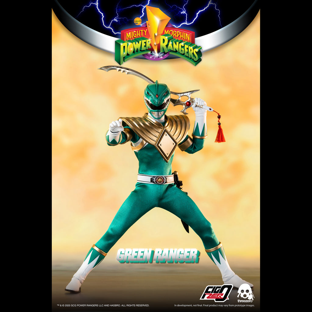 Mighty Morphin Power Rangers Green Ranger Collectible Figure 1/6 Scale By Threezero