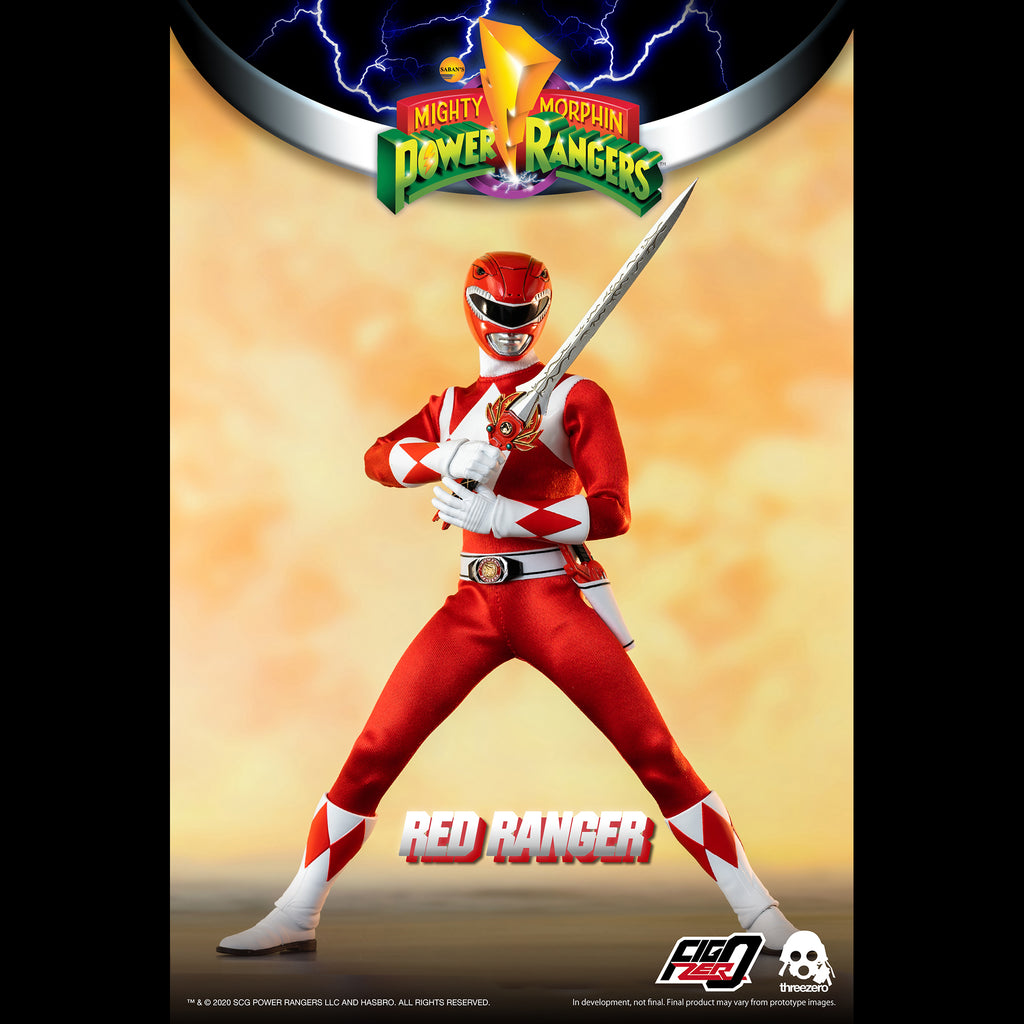 Mighty Morphin Power Rangers Red Ranger Collectible Figure 1/6 Scale By Threezero