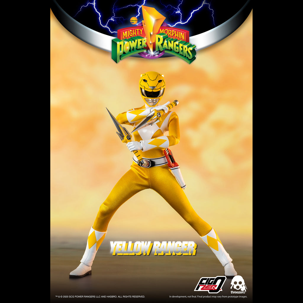 Mighty Morphin Power Rangers Yellow Ranger Collectible Figure 1/6 Scale By Threezero