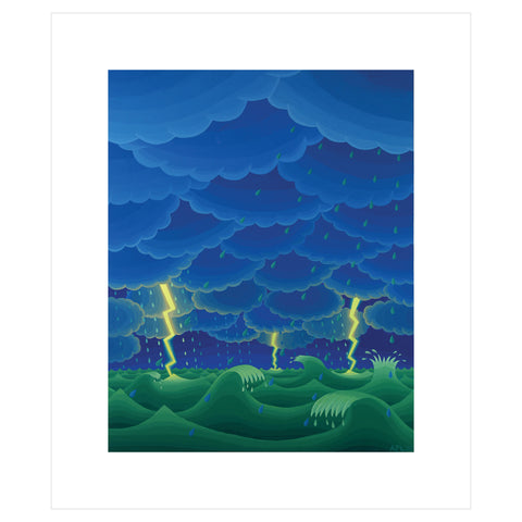 Seascape with Lightning