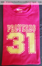 Load image into Gallery viewer, Proverbs 31 - Yellow and Pink T shirt