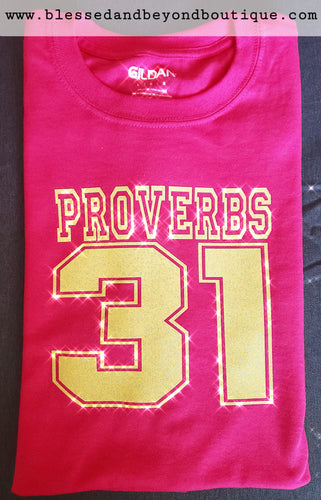 Proverbs 31 - Yellow and Pink T shirt