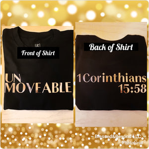 """UNMOVEABLE"" T shirt"