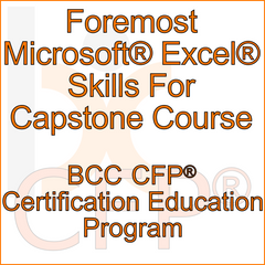 Live Webinar - Foremost Microsoft® Excel® Skills For Capstone Course