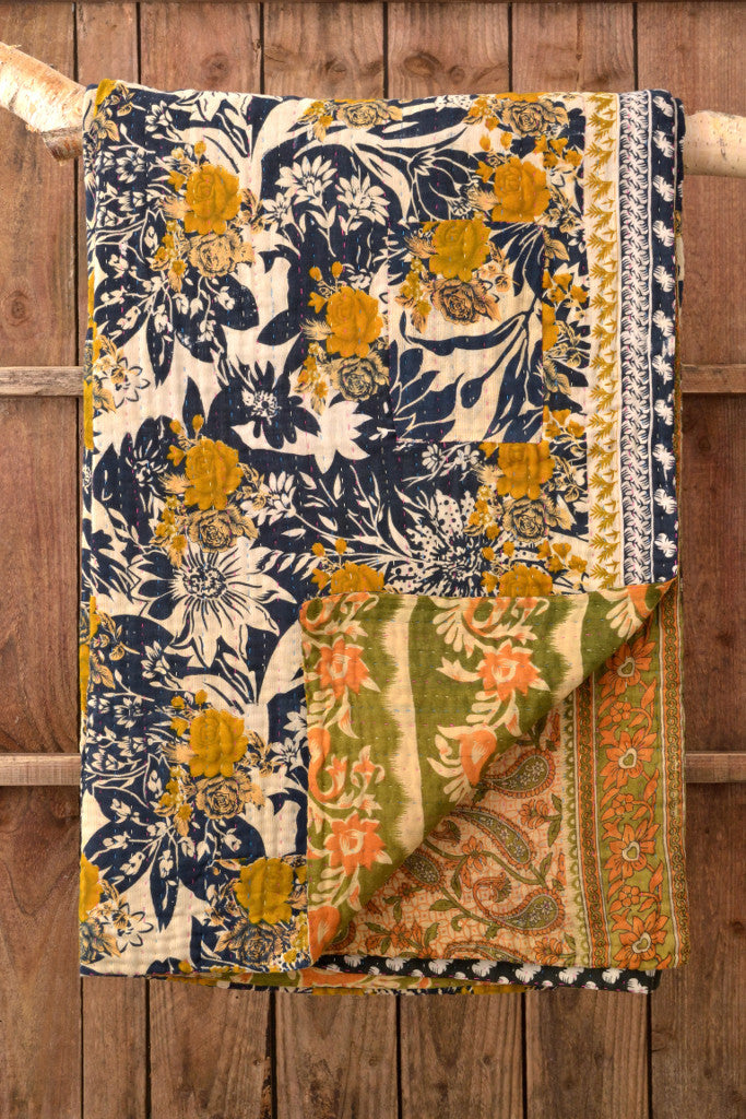Kantha Quilt 10: by Ojufa - Sold - Decorator's Notebook