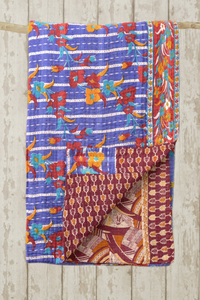 Kantha Quilt 11: by Pinki