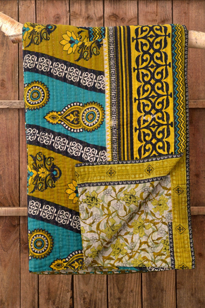 Kantha Quilt 12: by Shima