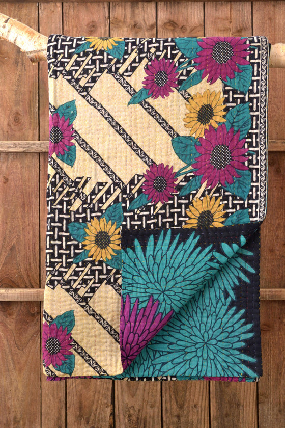 Kantha Quilt 13: by Rozi