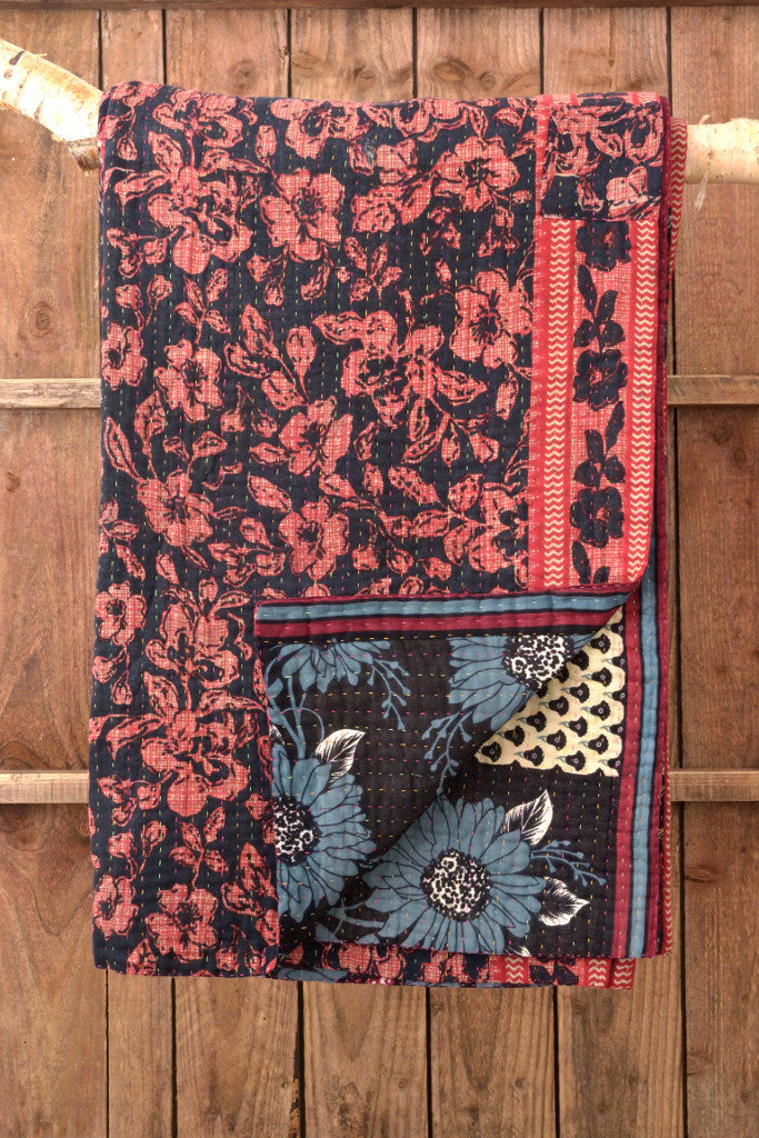 Kantha Quilt 14: by Rozi