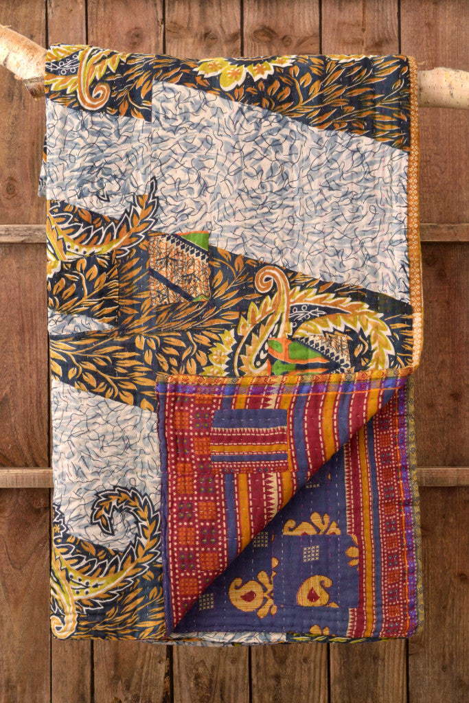 Kantha Quilt 21: by Amina