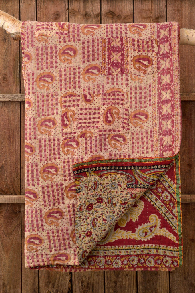 Kantha Quilt 22: by Shati
